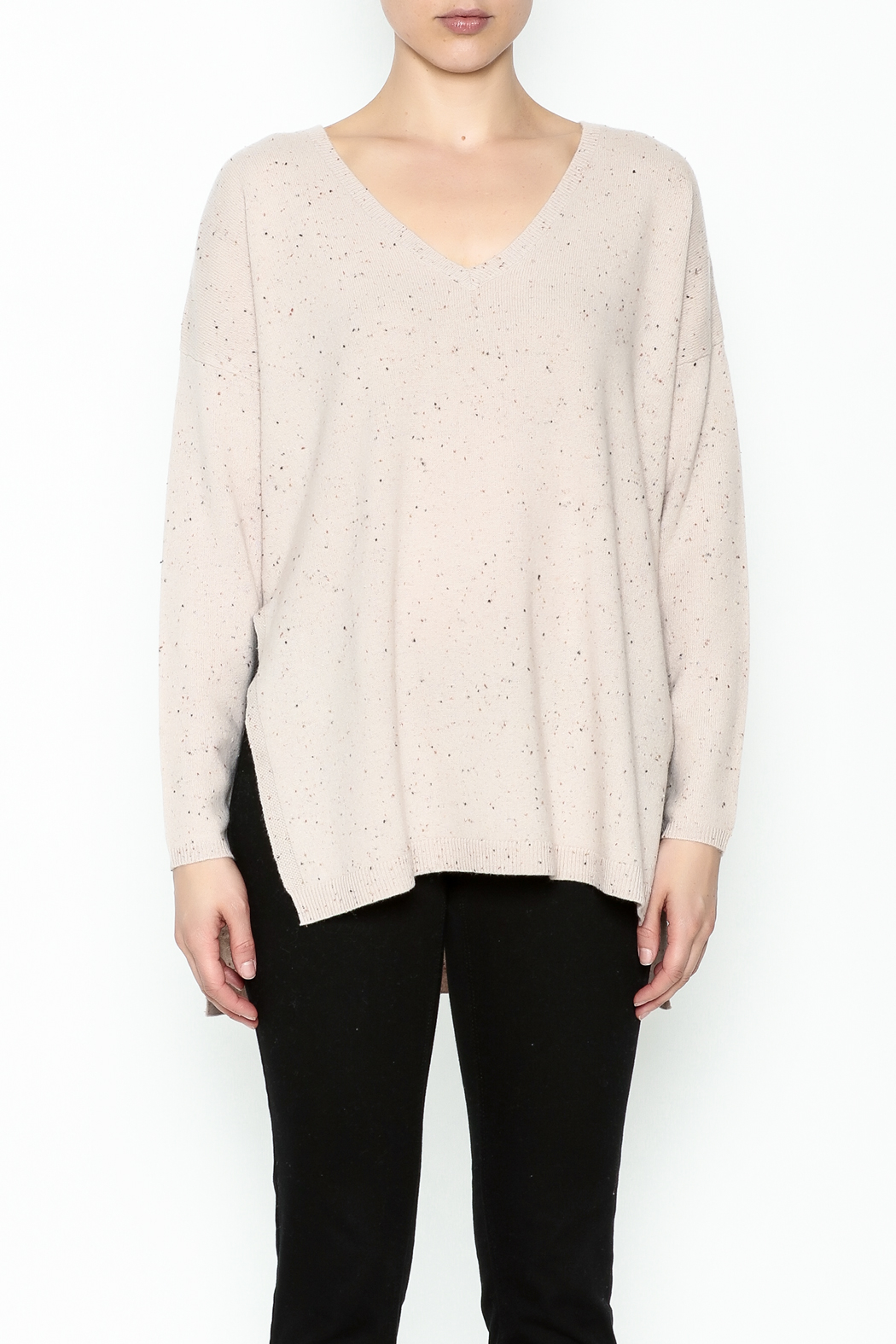 subtle luxury Open Rib Sweater - Front Full Image