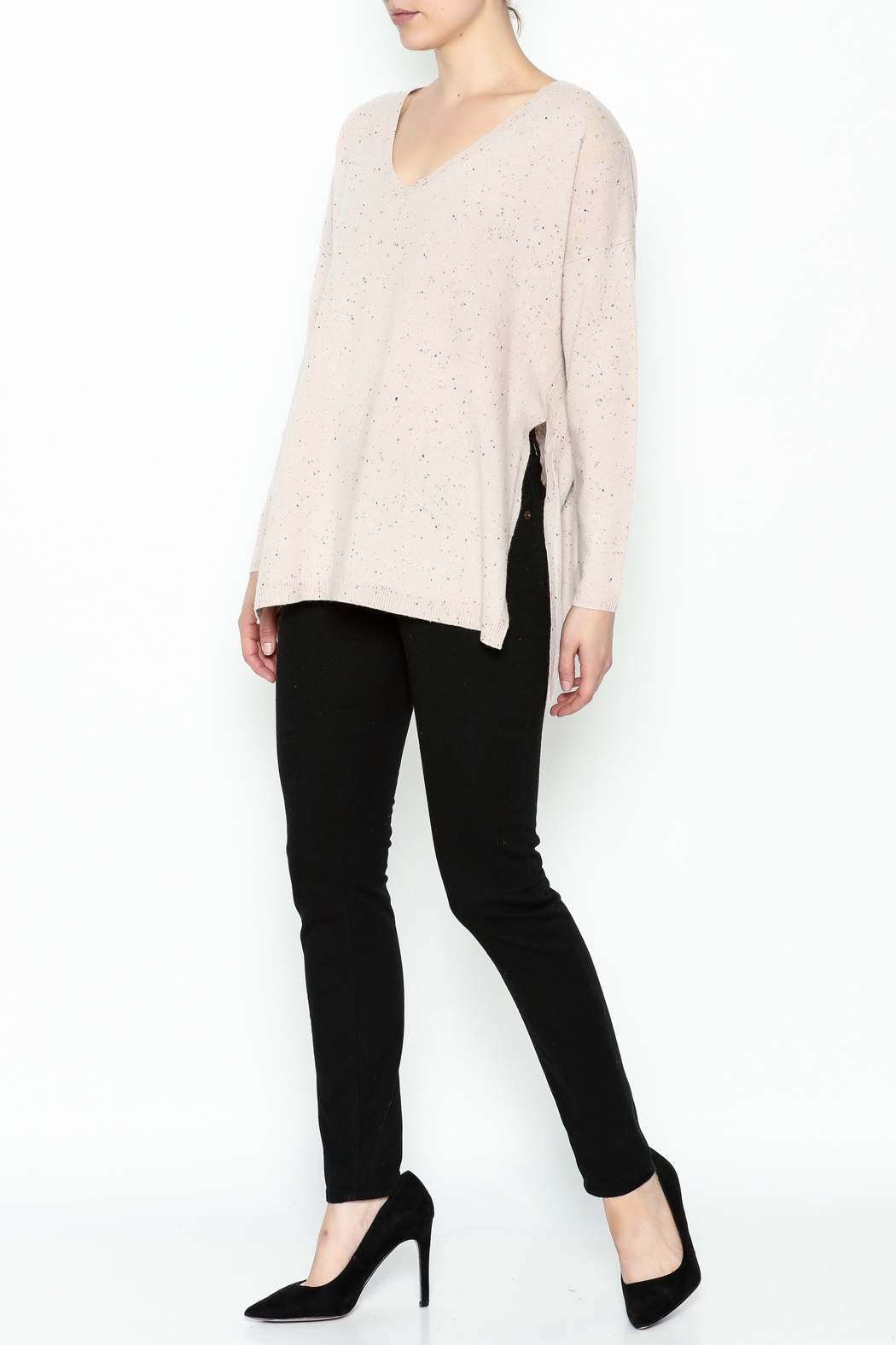 subtle luxury Open Rib Sweater - Side Cropped Image