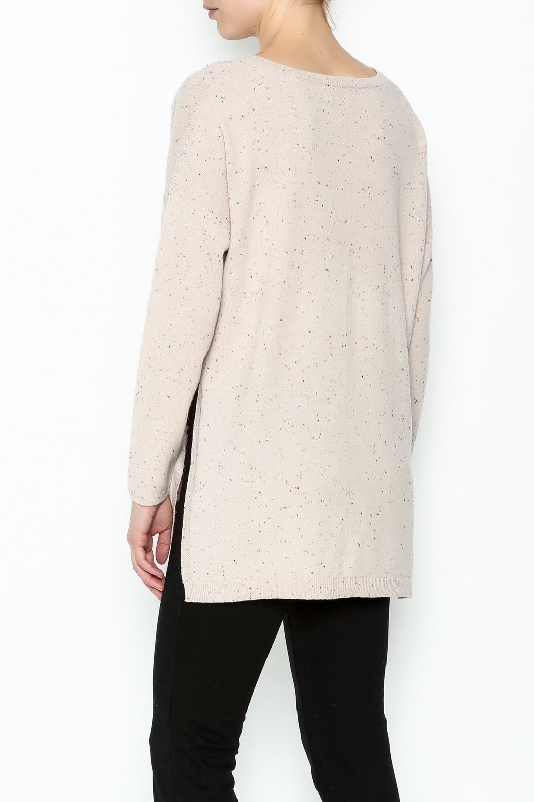 subtle luxury Open Rib Sweater - Back Cropped Image