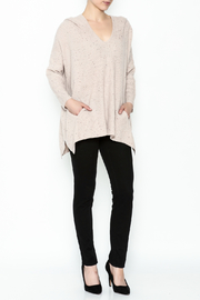 subtle luxury Sweater Hoodie Poncho - Side cropped