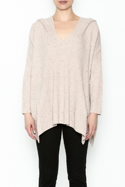 subtle luxury Sweater Hoodie Poncho - Front full body