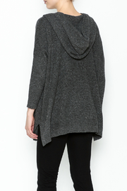 subtle luxury Sweater Hoodie Poncho - Back cropped