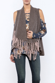 subtle luxury Cashmere Shawl Vest - Product Mini Image