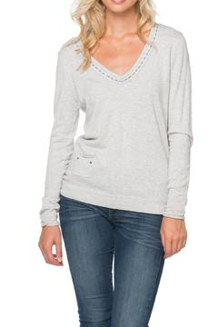 Shoptiques Product: Deep-V Embroidered Sweater