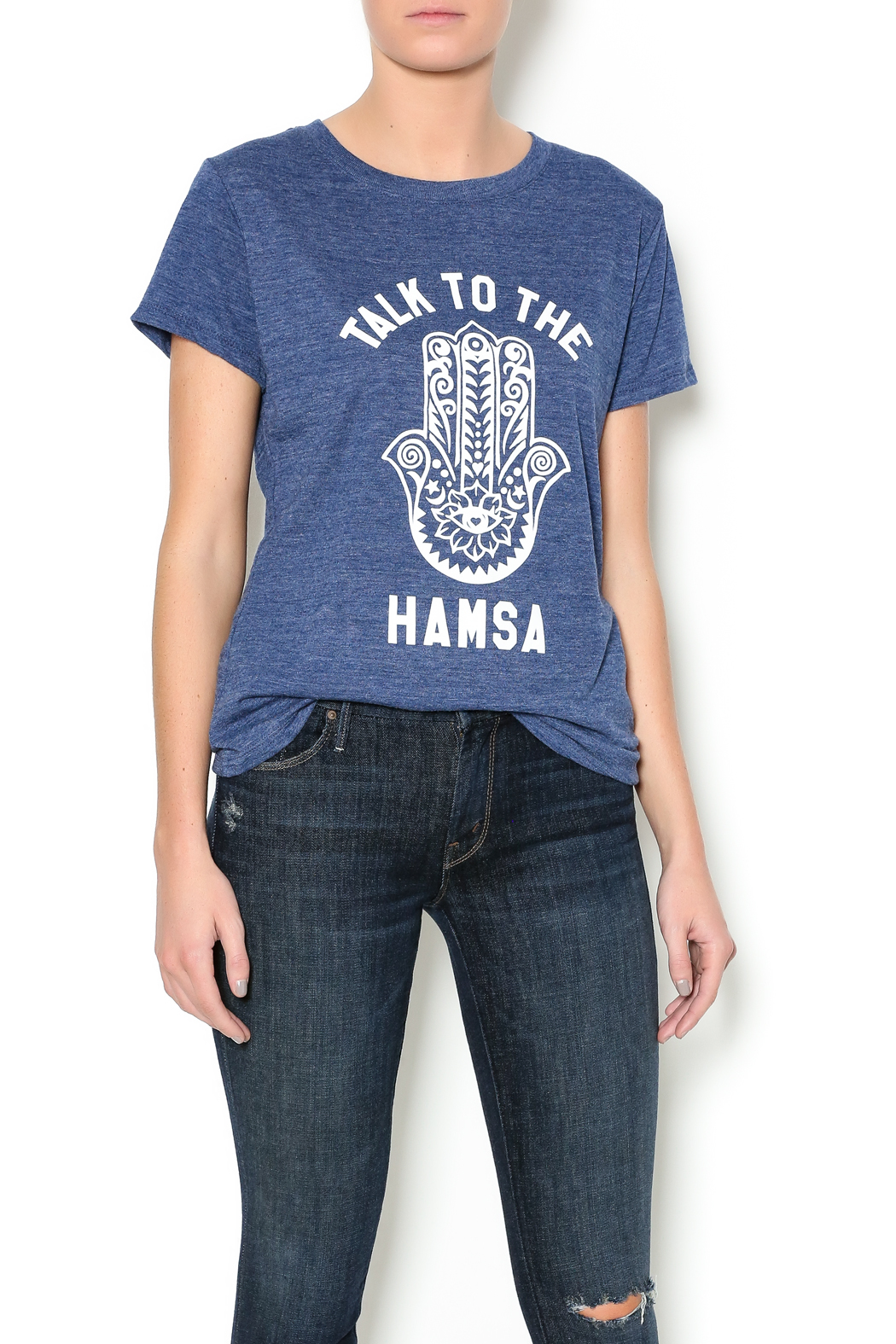 Suburban riot Hamsa Tee - Front Cropped Image
