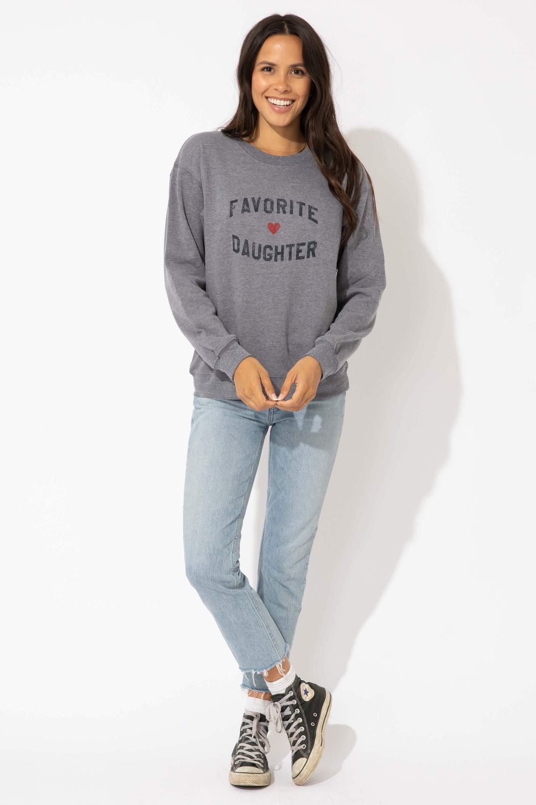 Suburban riot Favorite Daughter Sweatshirt - Front Cropped Image
