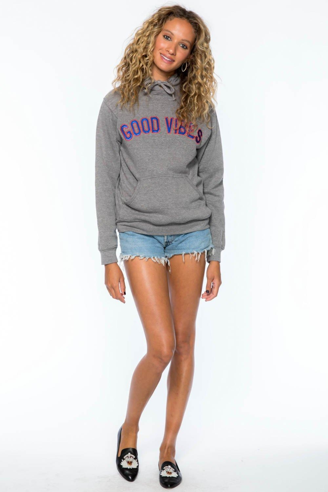 Suburban riot Good Vibes Hoodie - Side Cropped Image
