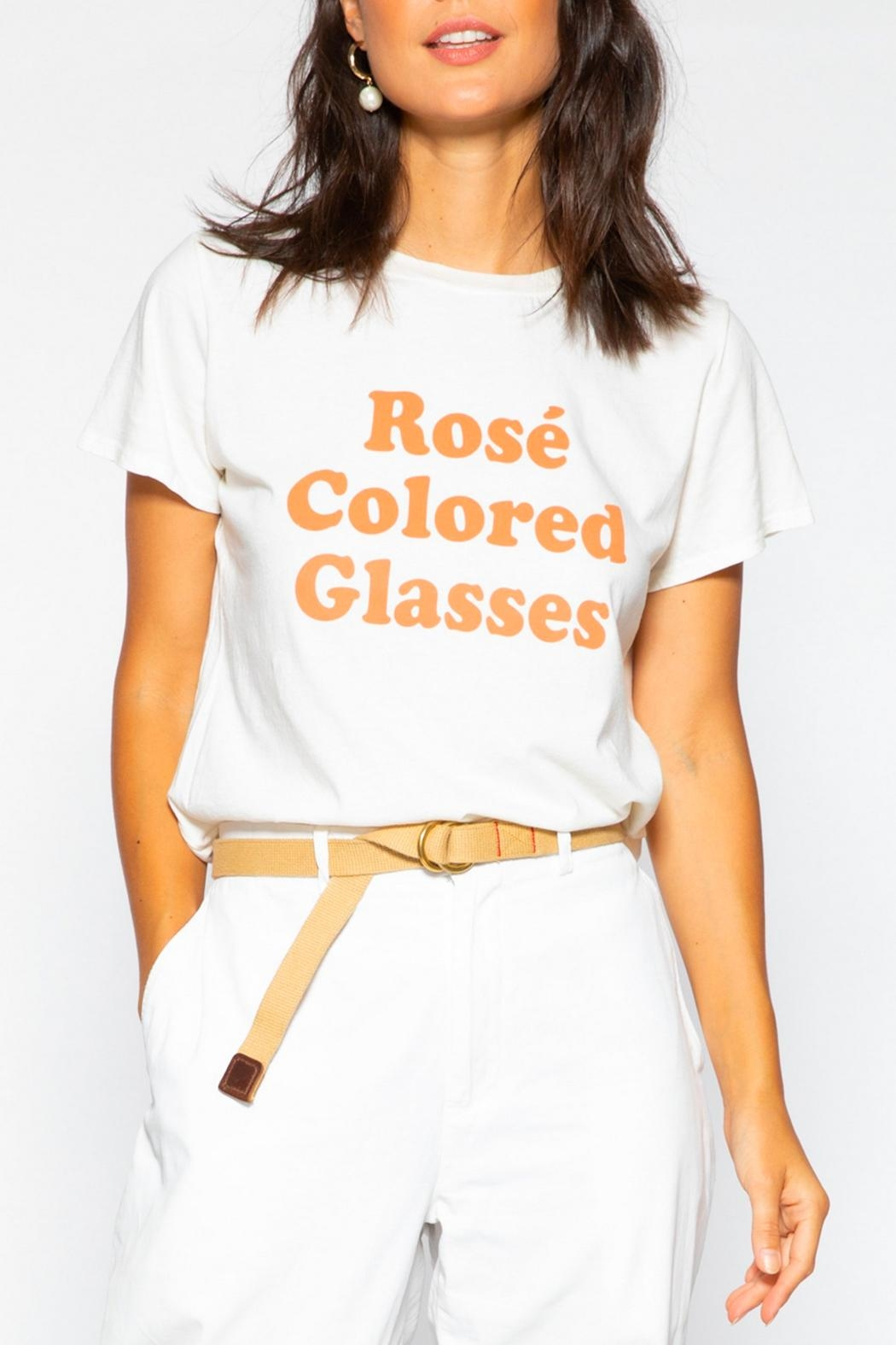 Suburban riot Rose-Colored-Glasses Loose Tee - Front Cropped Image