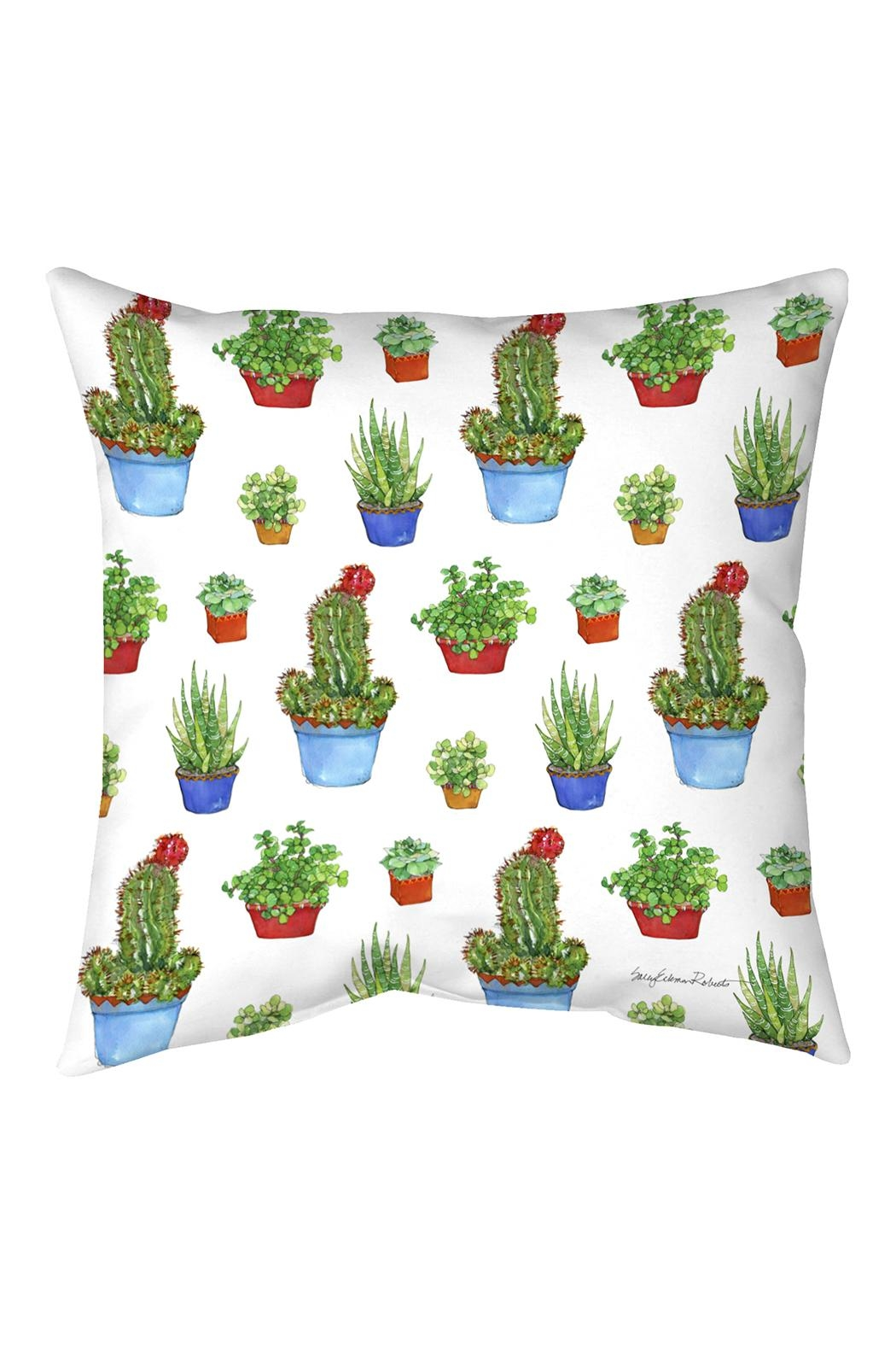 Manual Woodworkers and Weavers Succulent Pillow - Front Cropped Image
