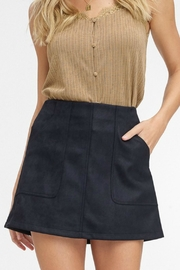 Pretty Little Things Suede A-Line Skirt - Front full body