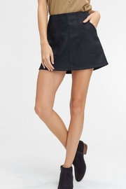 Pretty Little Things Suede A-Line Skirt - Front cropped