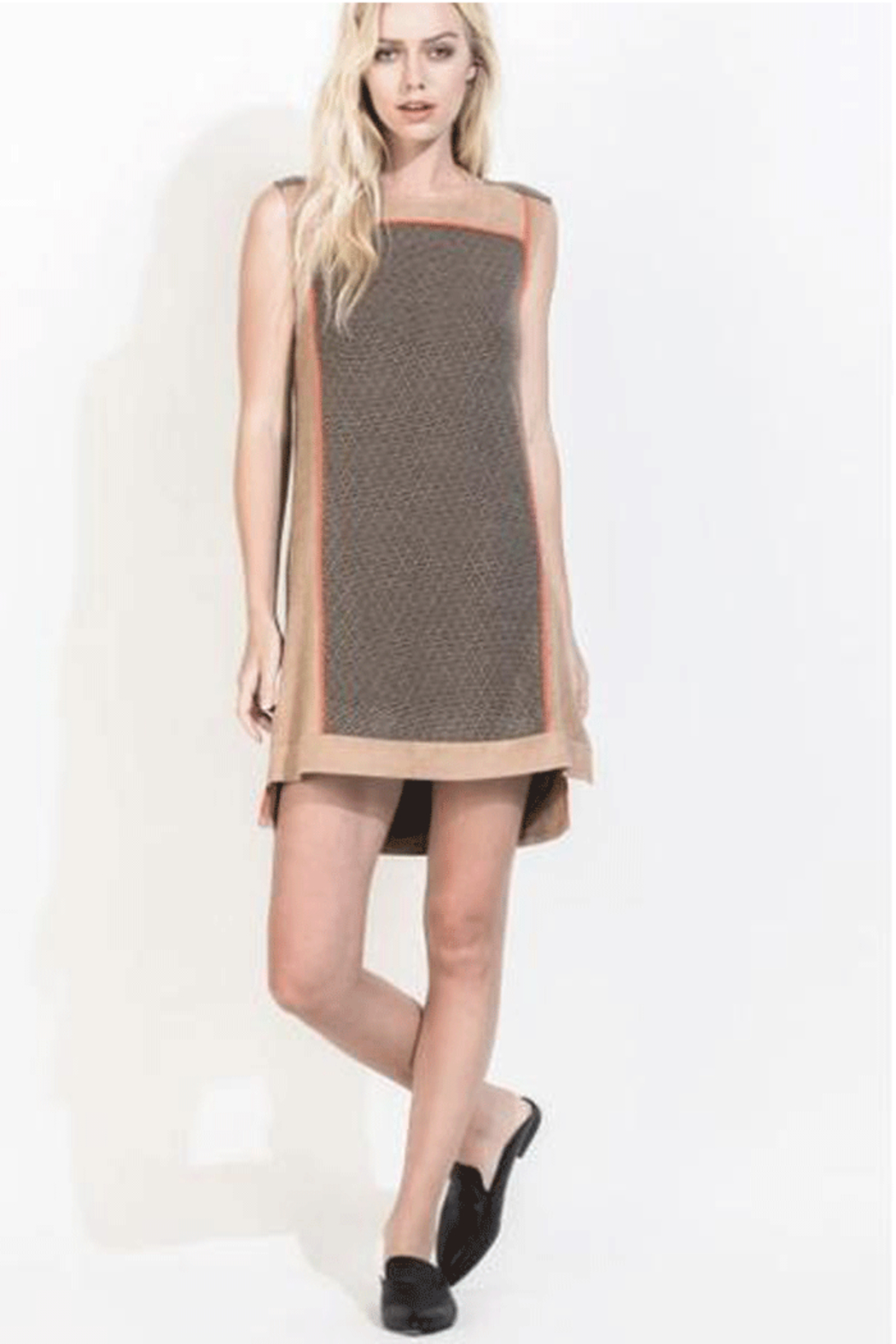 THML  Suede and Sweater A-Line Dress - Main Image