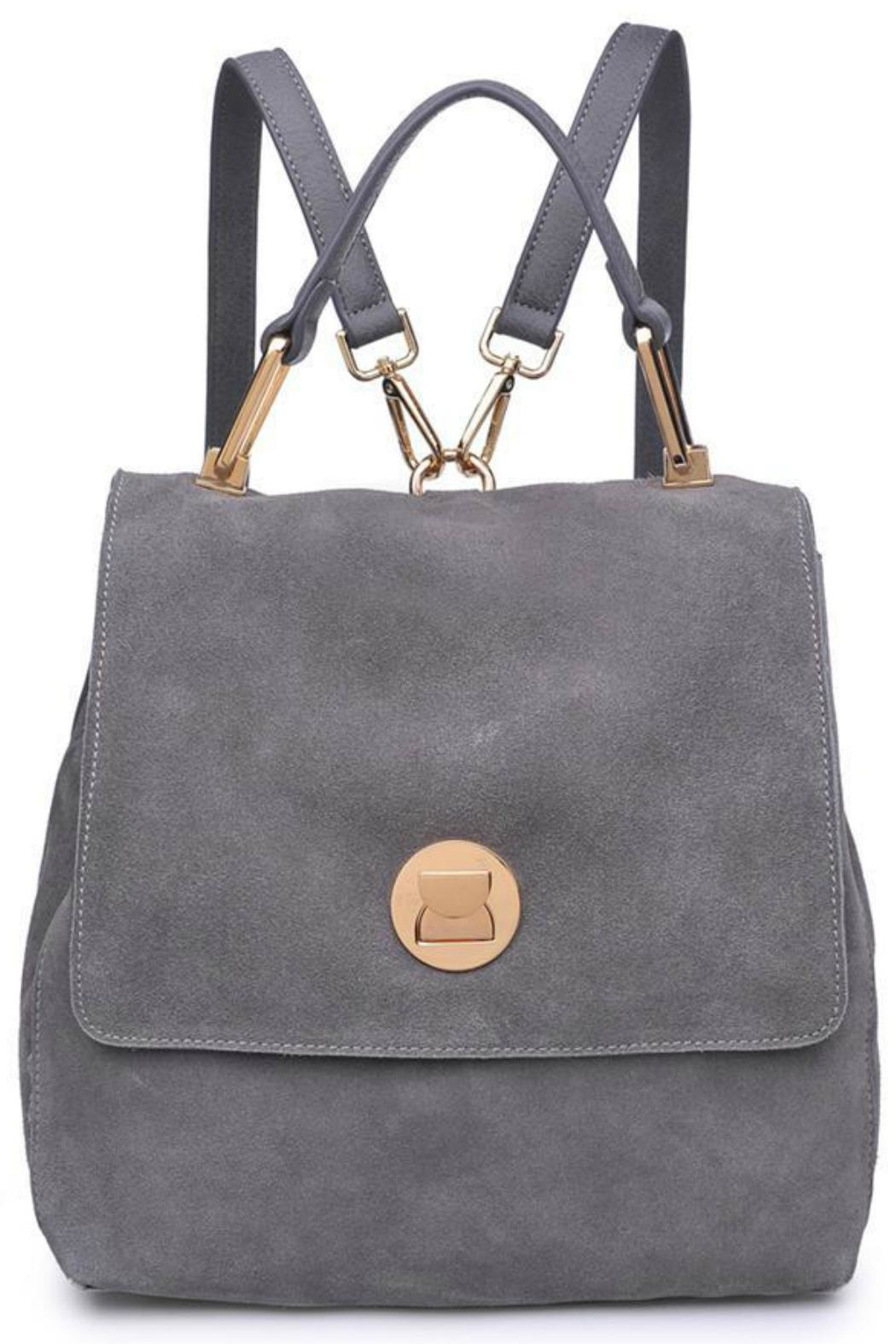 Moda Luxe Suede Backpack - Front Cropped Image