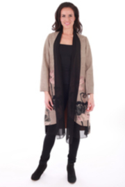 Clotheshead Suede Coat w/ Scarf - Product Mini Image