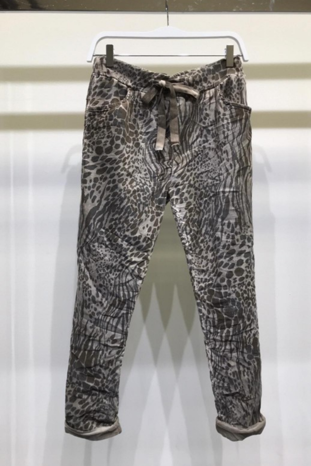 Venti 6 Suede Crinkle Jogger - Main Image