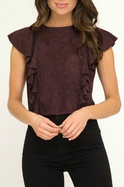 She & Sky  Suede Crop Top - Product Mini Image