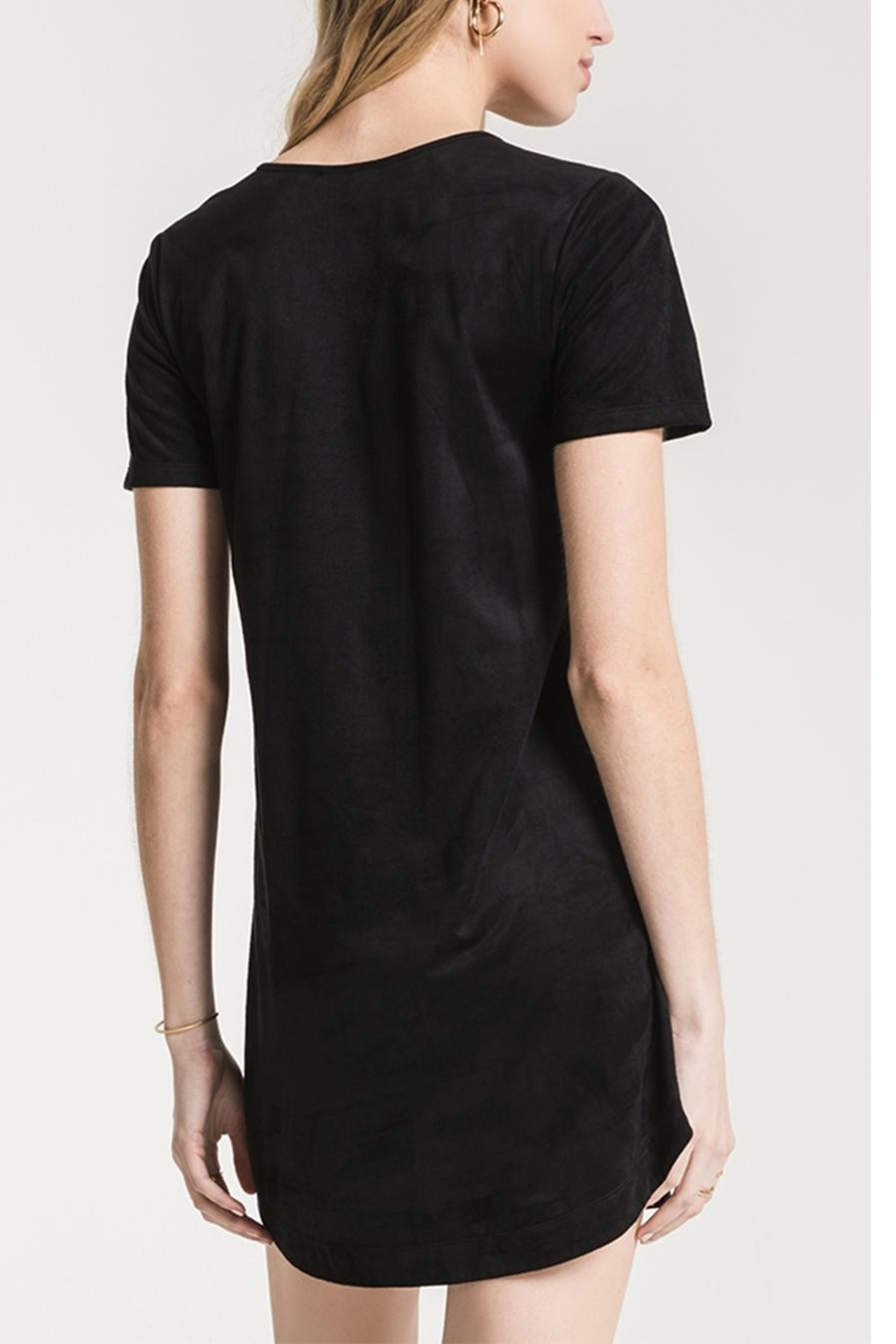 z supply Suede Cut-Out Dress - Side Cropped Image