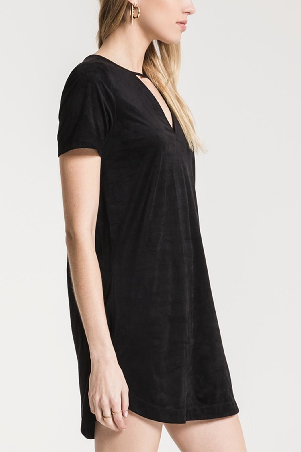 z supply Suede Cut-Out Dress - Front Full Image