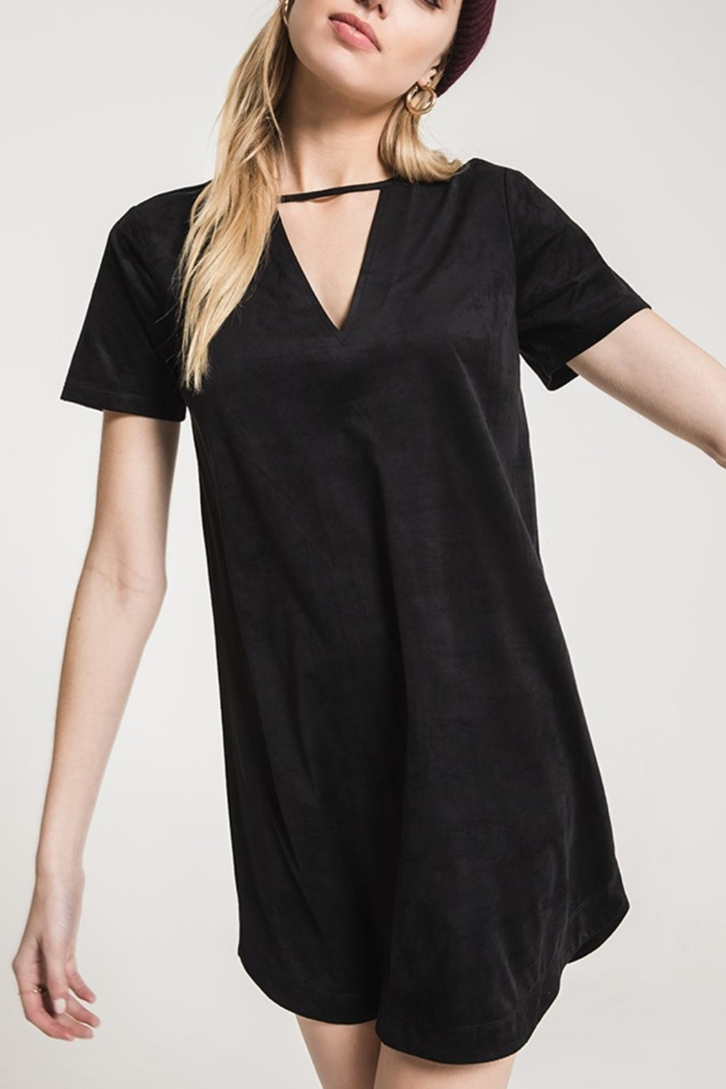 z supply Suede Cut-Out Dress - Front Cropped Image