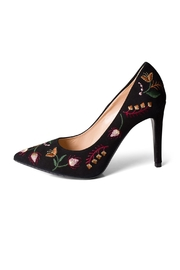 Lady Doc Suede-Embroidered Black Pumps - Product Mini Image