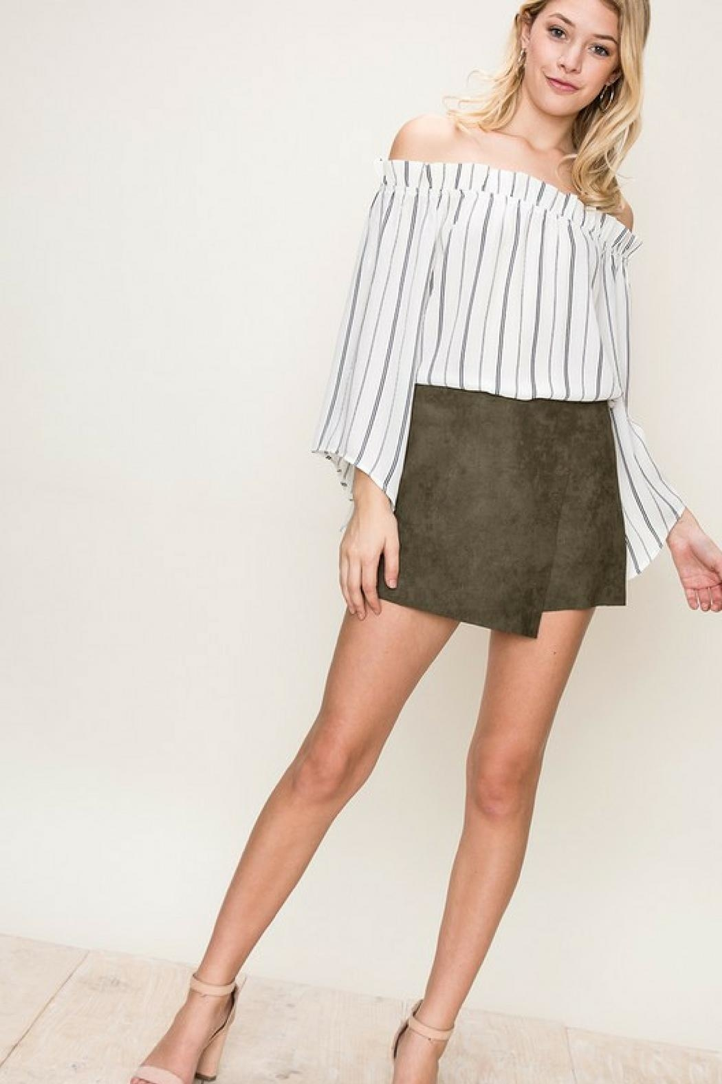 2c4b9e497067 HYFVE Suede Envelope Skort from North Carolina by Ivy and Leo ...