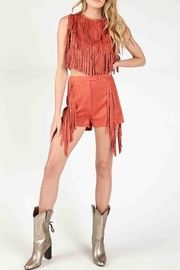 Wild Honey Suede Fringe Shorts - Product Mini Image