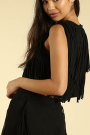 Wild Honey Suede Fringe Tank - Front full body