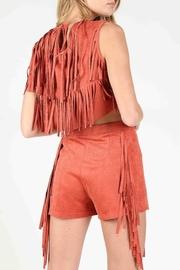 Wild Honey Suede Fringe Tank - Side cropped
