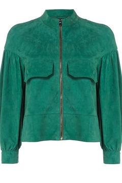 Sportmax Suede Green Jacket - Alternate List Image