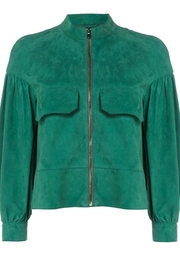 Sportmax Suede Green Jacket - Product Mini Image