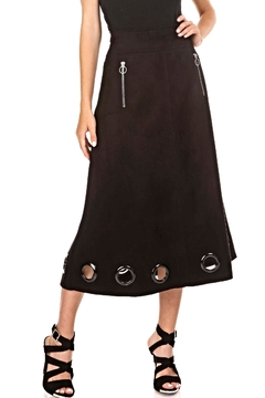 Adore Suede Grommet Skirt - Alternate List Image