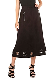 Adore Suede Grommet Skirt - Product Mini Image