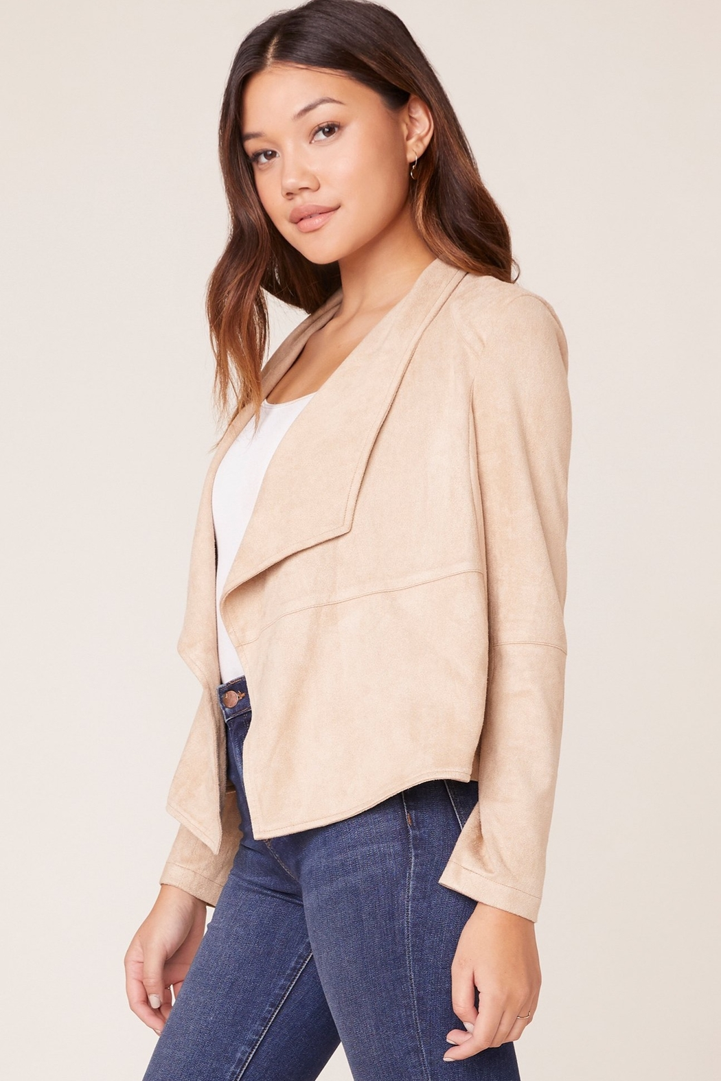 BB Dakota Suede It Out Faux Suede Jacket - Side Cropped Image