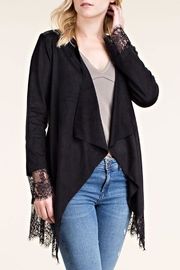 Vocal Apparel Suede Jacket Lace-Detail - Product Mini Image