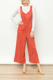 Mystree Suede jumpsuit - Front cropped
