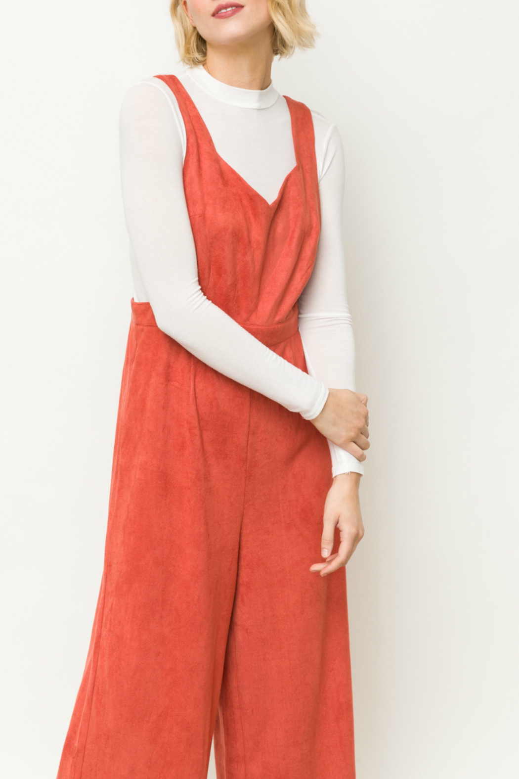 Mystree Suede jumpsuit - Front Full Image