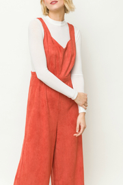 Mystree Suede jumpsuit - Front full body