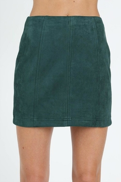 Pretty Little Things Suede Mini Skirt - Product List Image