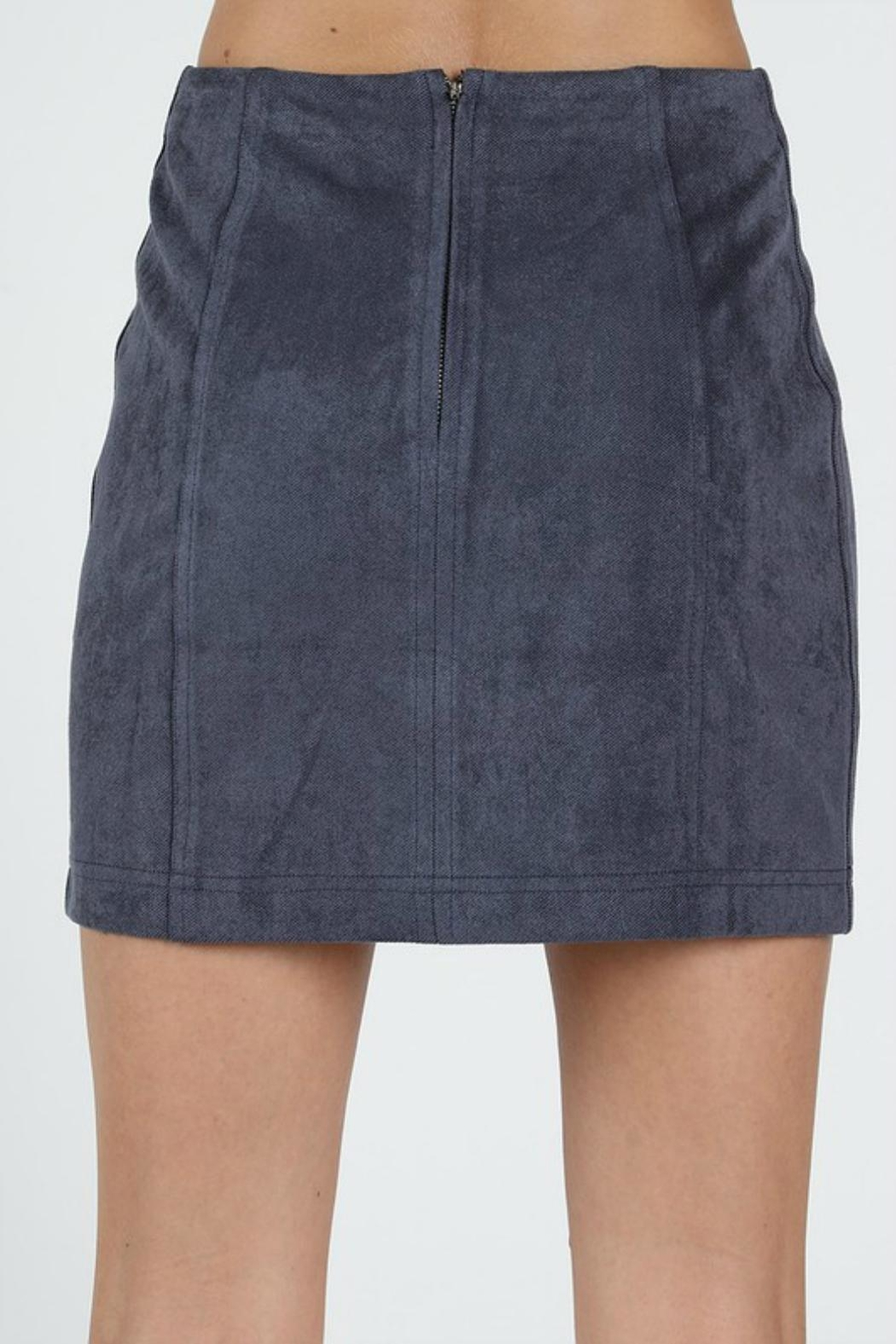 Pretty Little Things Suede Mini Skirt - Front Full Image