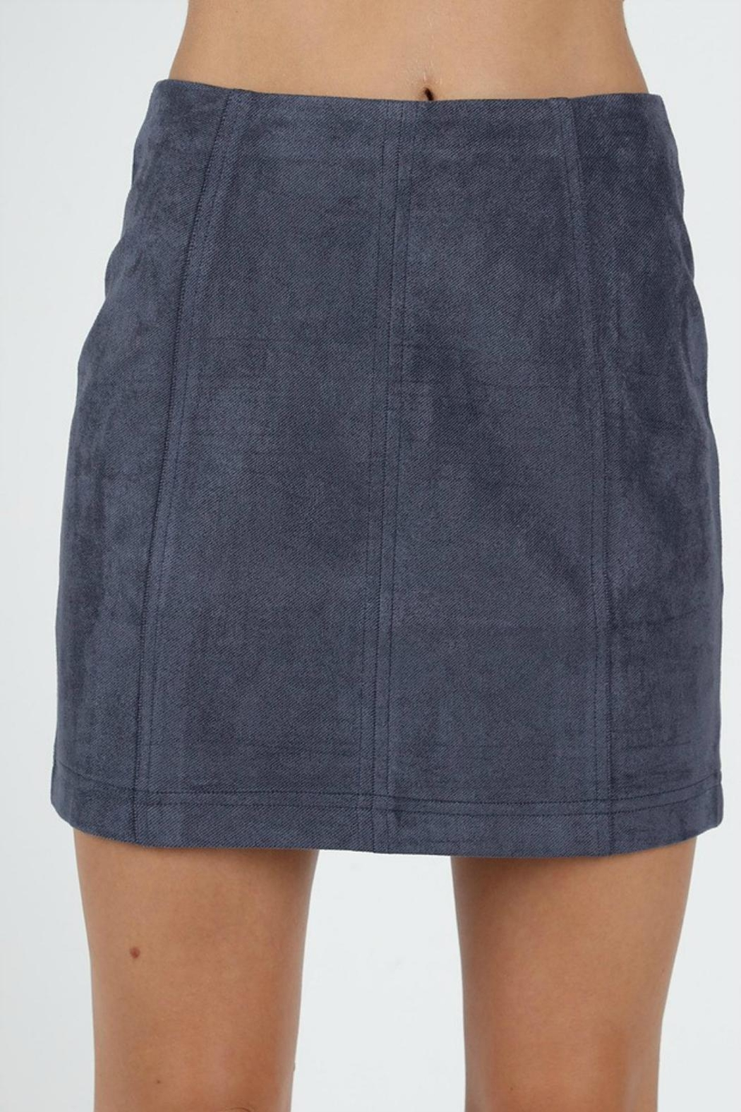 Pretty Little Things Suede Mini Skirt - Main Image