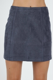 Pretty Little Things Suede Mini Skirt - Product Mini Image