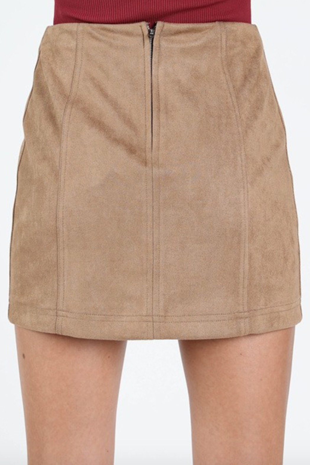Honey Punch Suede Mini Skirt - Side Cropped Image