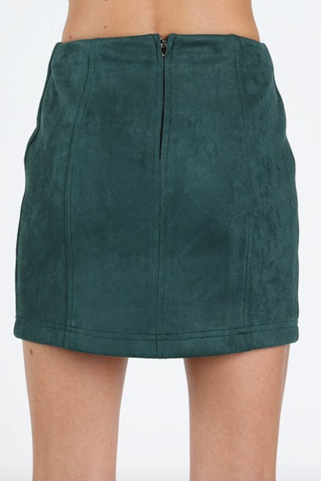 Honey Punch Suede Mini Skirt - Front Full Image