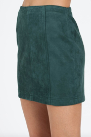 Honey Punch Suede Mini Skirt - Side cropped