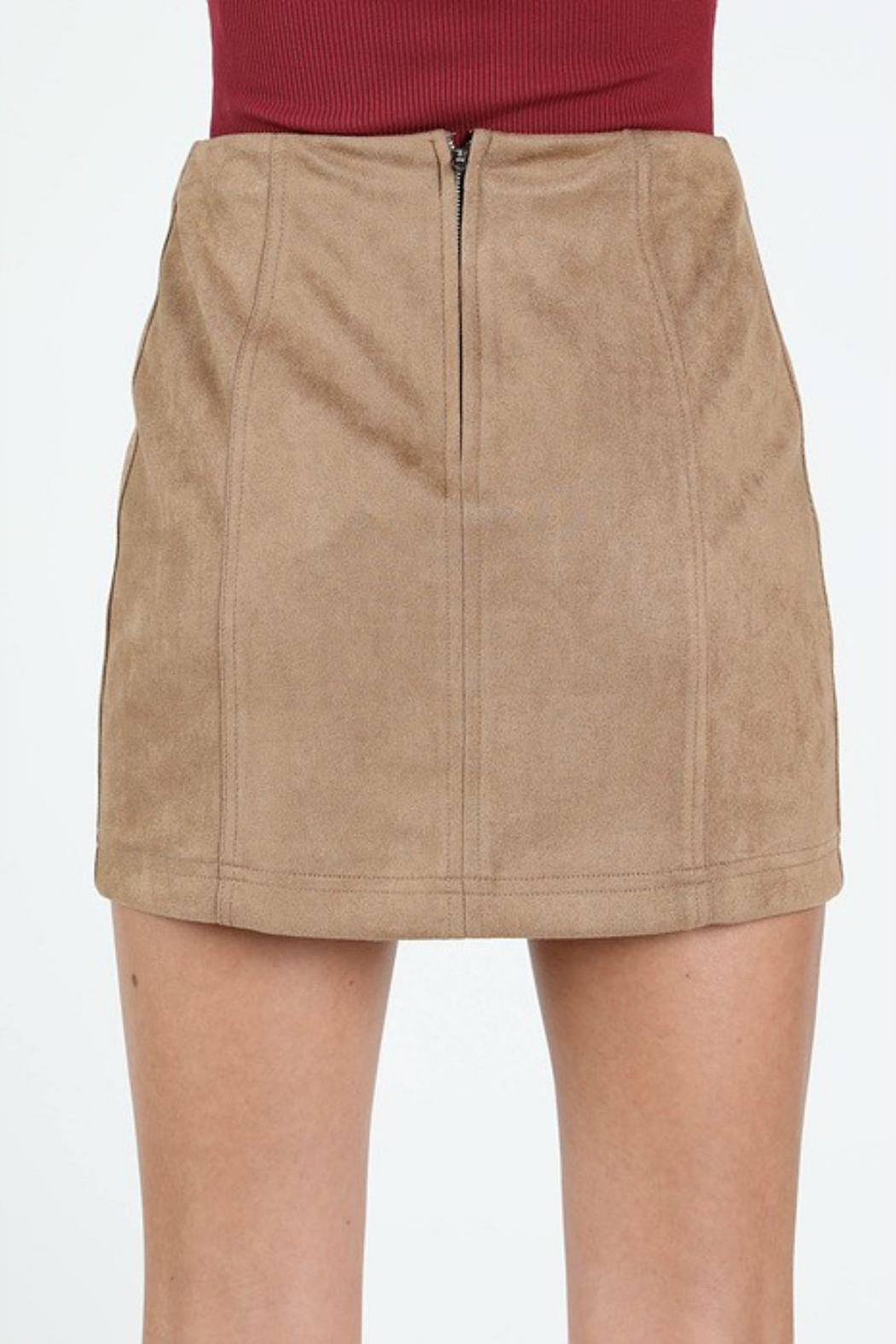 Pretty Little Things Suede Mini Skirt - Side Cropped Image