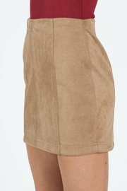 Pretty Little Things Suede Mini Skirt - Front full body
