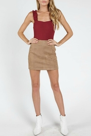 Pretty Little Things Suede Mini Skirt - Front cropped