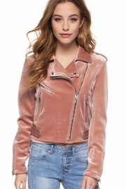 Dex Suede Moto Jacket - Product Mini Image