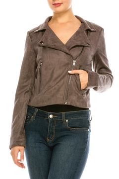 Shoptiques Product: Suede Moto Jacket