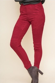 Umgee Suede Moto Jeggings - Product Mini Image